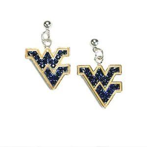 Jewelry - NWOT West Virginia crystal pendant dangle earrings